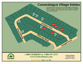 Canandaigua NY new home community
