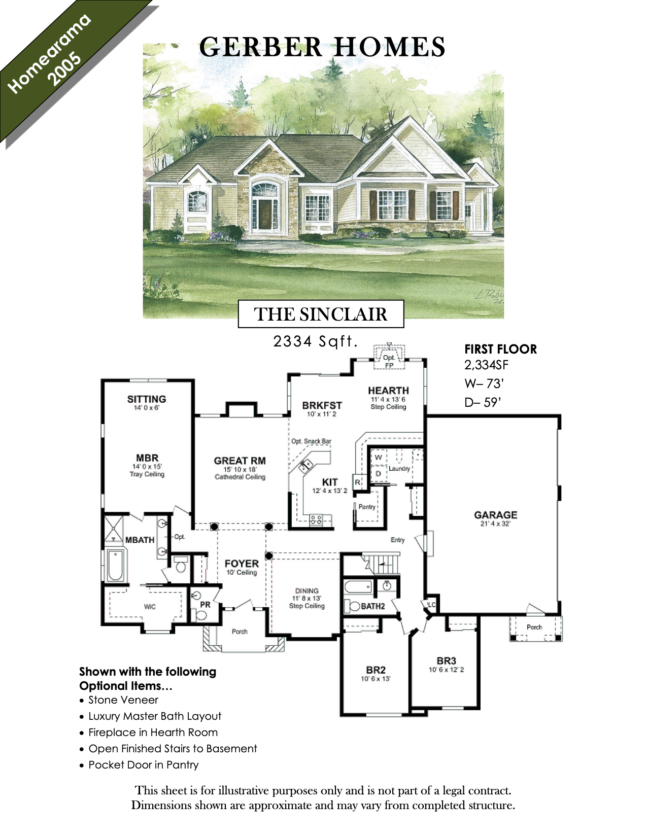sinclair floor plan