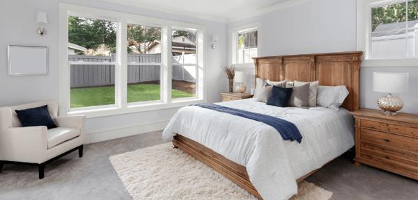 Bedroom in Custom Home in Rochester NY