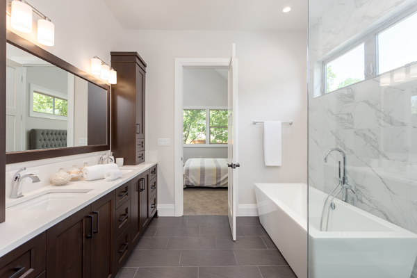 Contemporary Bathroom in Custom Home in Rochester NY