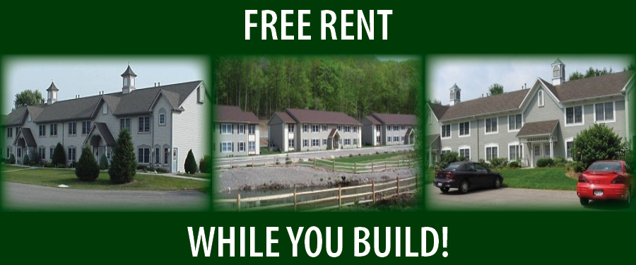 Free Rent While You Build Your New Home!