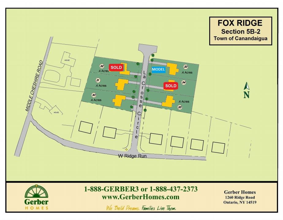 Home Sites in Fox Ridge in Canandaigua NY