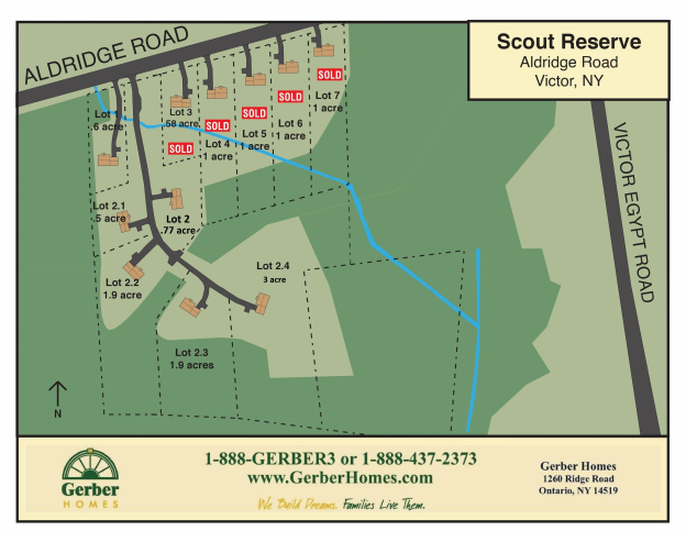 Scout Reserve Homesites in Victor New York